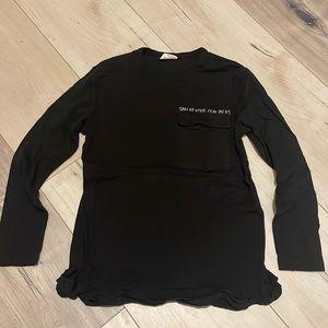 Zara Black Long Sleeve w/detail